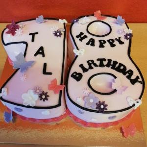 Geburtstagstorte Zahl 18