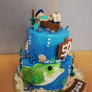 Angler Geburtstagstorte
