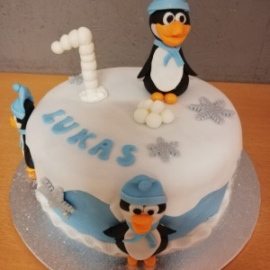 Kindergeburtstagstorte Pinguin