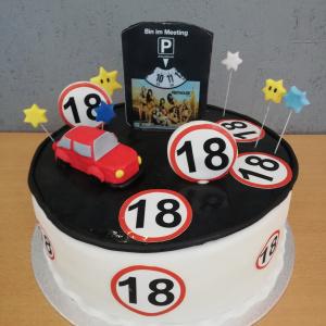 18er Geburtstagstorte