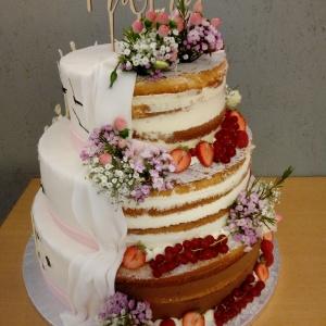 Semi Cake Hochzeitstorte